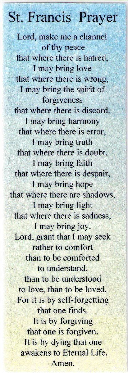 st francis prayer quotes