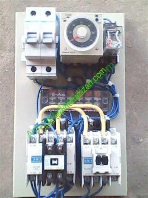 rangkaian lu jalan dengan timer listrik dan kontaktor