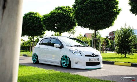 stanced toyota stanced toyota yaris cartuning best car tuning photos