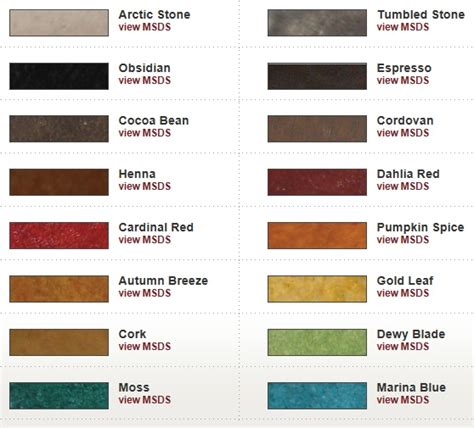 images  water based concrete stain color charts