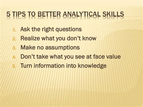 what are analytical skills developing your analytical skills