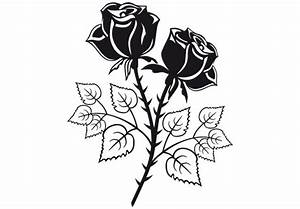 Two Roses Wall Decal - Beautiful Flower of Love Decor