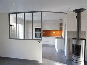 verriere interieur separation cuisine salon With exceptional idee deco jardin contemporain 5 dilemme deco saloncuisine ouverte