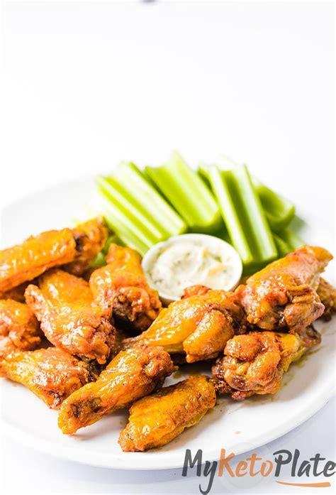 fryer chicken air wings crispy keto buffalo sauce recipe baking powder wing