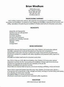 Construction Resume Templates To Impress Any Employer