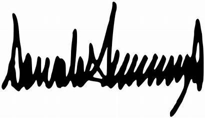 Trump Signature Donald Svg President Clipart Transparent