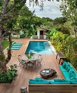 Mini Pool Terrasse : 80 id es pour habillez votre maison en aigue marine ~ Orissabook.com Haus und Dekorationen