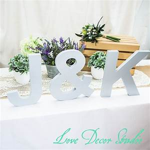 large standing wooden letters freestanding 3 piece initial With wholesale freestanding wooden letters