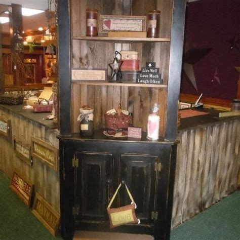 Above Kitchen Cabinet Decorating Ideas - corner hutch distressed for a nice worn country look country decor by winks wood barn mc adoo