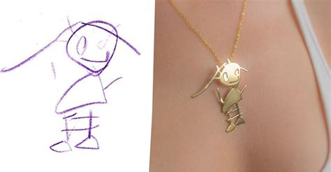company transforms kids drawings  jewelry im