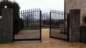 Vial Portillon Fer : portail 4 metres brico depot chic portail coulissant 4m ~ Premium-room.com Idées de Décoration