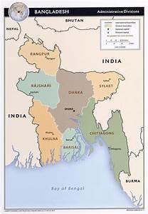 Map Of Administrative Divisions Of Bangladesh