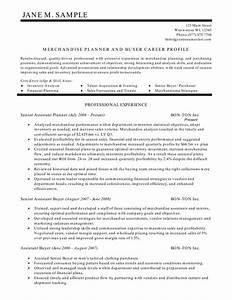 merchandise planner and buyer resume With buyer resume