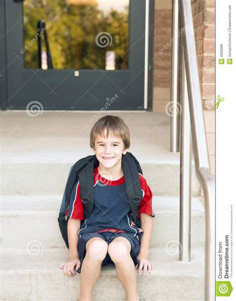 boy going to school royalty free stock 4602086