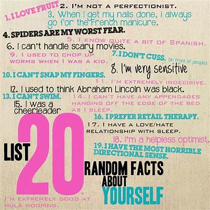 Things Should Know Facts Random Journal Myself