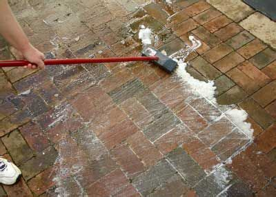 how to clean grease patio pavers concrete cleaner