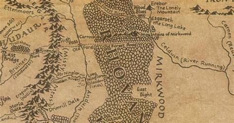 der hobbit karte von mittelerde karten update tolkien map