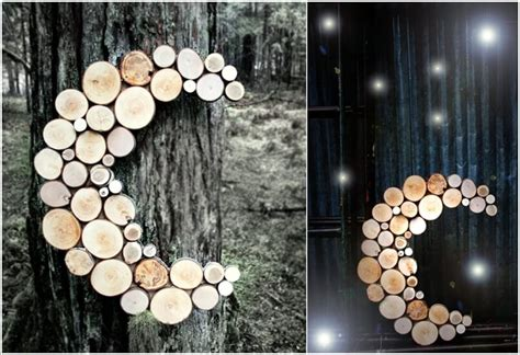 log slice wall art ideas   love