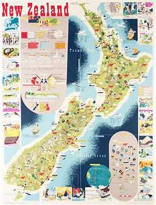 Map Of New Zealand By Mallitte  H