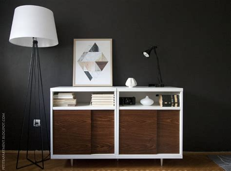 Ikea Besta Mid Century Modern Cabinet Hack  Petite Apartment