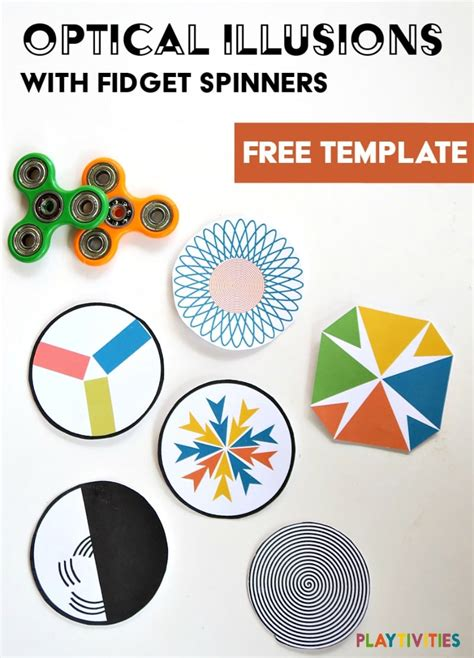 fidget spinner paper template fidget spinners with optical illusions