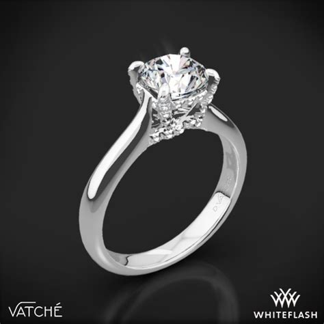 wedding rings for athletes quot x prong quot solitaire engagement ring by vatche 1287 1025