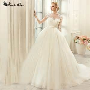where can i sell my wedding dress fast aliexpress buy louisvuigon sheer button back sleeve princess wedding dress wedding
