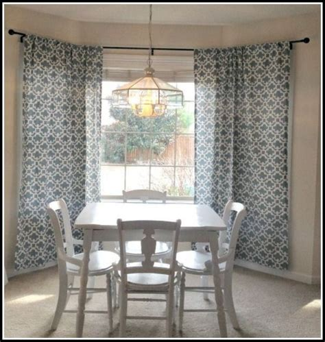 bay window curtain rods diy curtains home design ideas