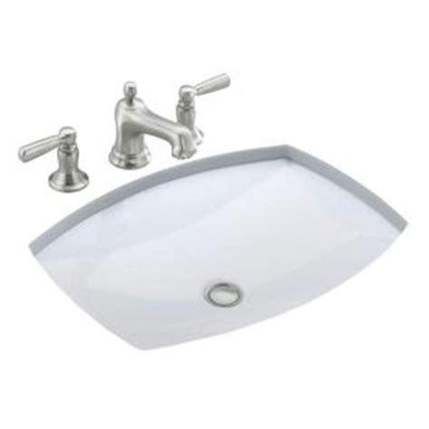 kohler kelston under mounted bathroom sink in white