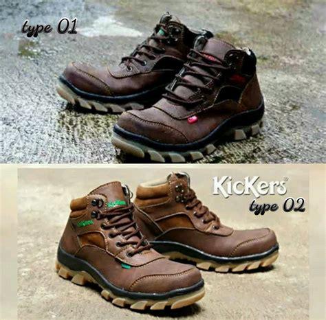 jual kickers boots safety ujung besi sepatu tracking kerja pria warna piliha sesuai no 1 2