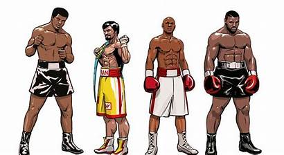 Mayweather Ali Tyson Floyd Boxing Muhammad Cartoon