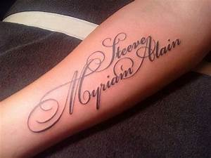 Ecriture Tatouage Femme : tatouage ecriture id es de tatouages et piercings ~ Melissatoandfro.com Idées de Décoration