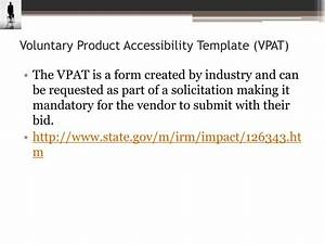ppt section 508 and wcag powerpoint presentation id With voluntary product accessibility template section 508