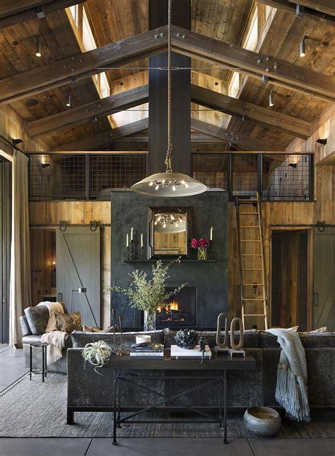 napa cabin farmhouse style cabin  wade design architects