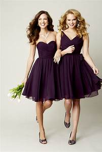 deep purple bridesmaid dresses trendy dress With purple dress for wedding bridesmaid