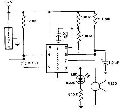 Time Delay Relay Wiring Diagram With Sensor by Door Open Alarm Using 555 Timer Circuit Repository