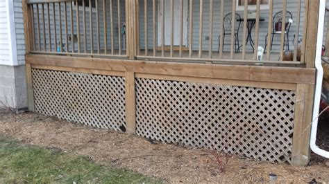 Alternatives To Lattice For Deck Skirting by D Deck Skirting Whats Everyone Using K T Lattice
