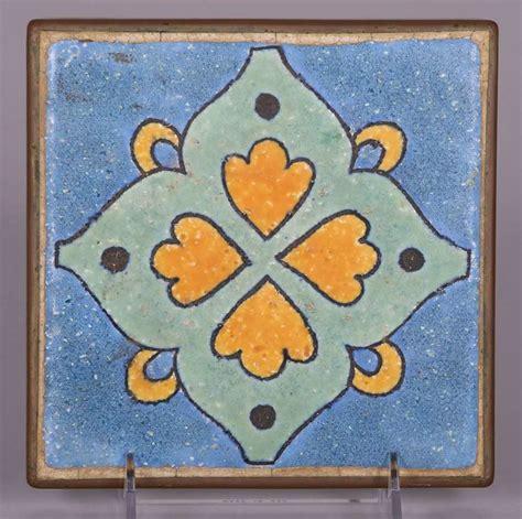 d m tile company copper trivet tile blue california