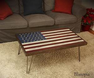 buy a custom american flag coffee table made to order With american made coffee tables