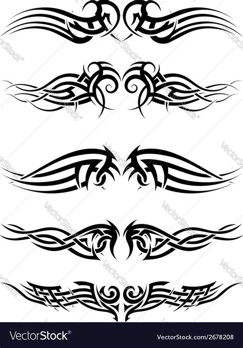 tribal tattoos vector image  angelp graphic tribal tattoos tribal pattern tattoos tribal