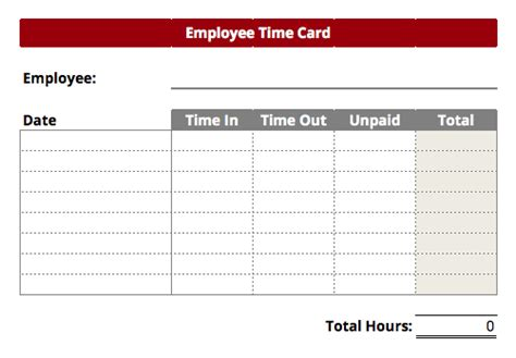 timecard templates excel find word templates