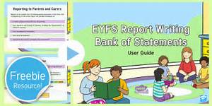 EYFS Report Writing Resources Guidance PowerPoint - end of ...