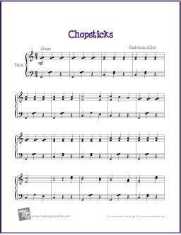 chopsticks  sheet   intermediate piano
