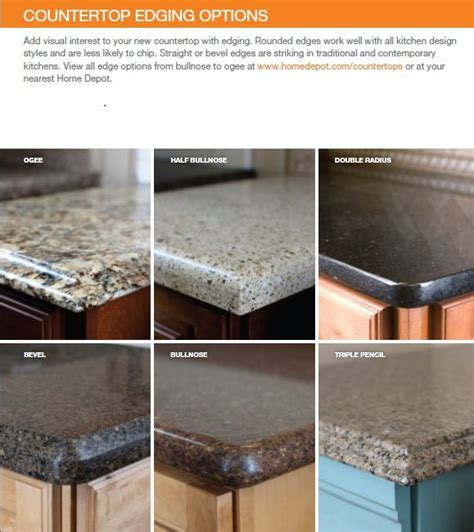 countertop edge options kitchen countertop edges