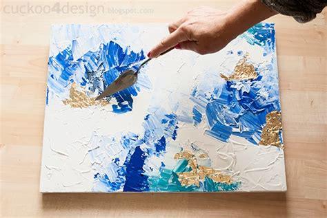 diy abstract artwork tutorial cuckoodesign