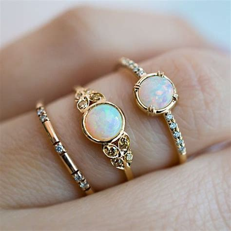 Opal Solitaire Ring With Pavé Diamond Band  Anillos. Double Milgrain Wedding Rings. 7x5mm Wedding Rings. Scorpion Rings. Bates Motel Engagement Rings