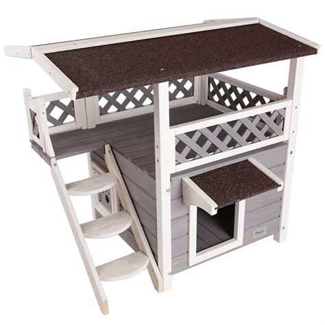 cat houses  outdoor feral cats backyard shelter condo