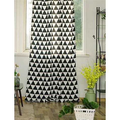 black  white geometric striped insulated cool curtains