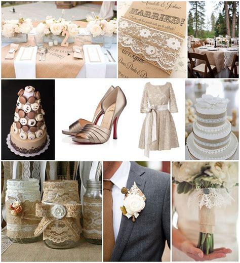 burlap and lace wedding ideas