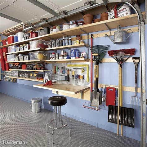 shelving for garage garage wall storage the family handyman
